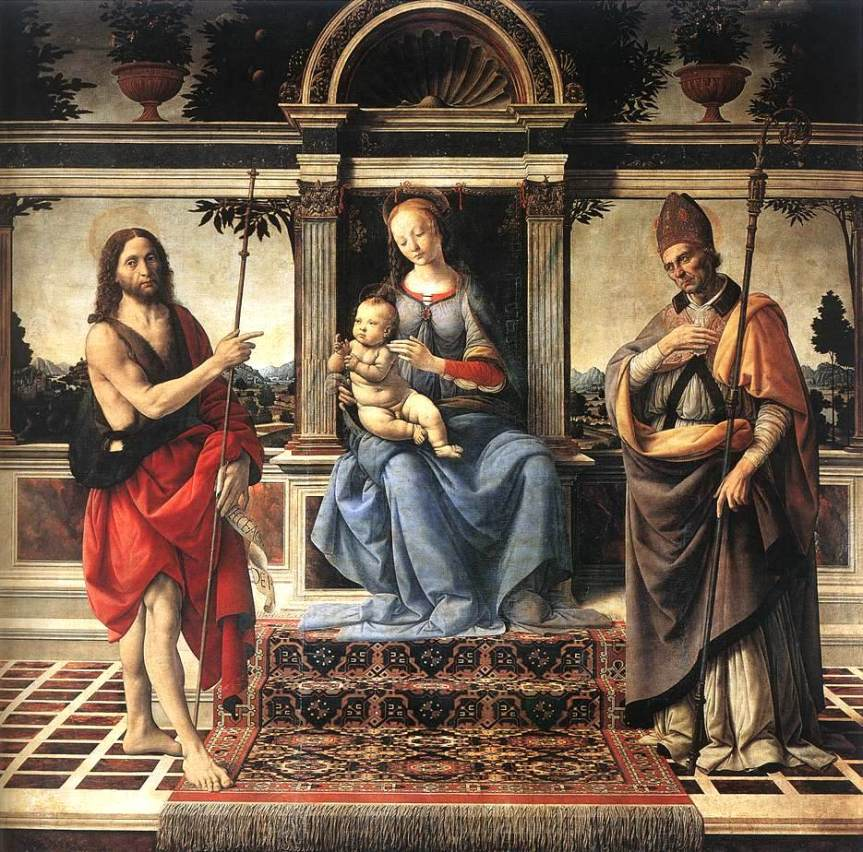 verrocchio_madonna_with_saint_john_the_baptist_and_donatus_1475_1483